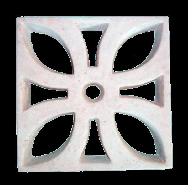 Elemento vazado de concreto Flor direto da Fábrica