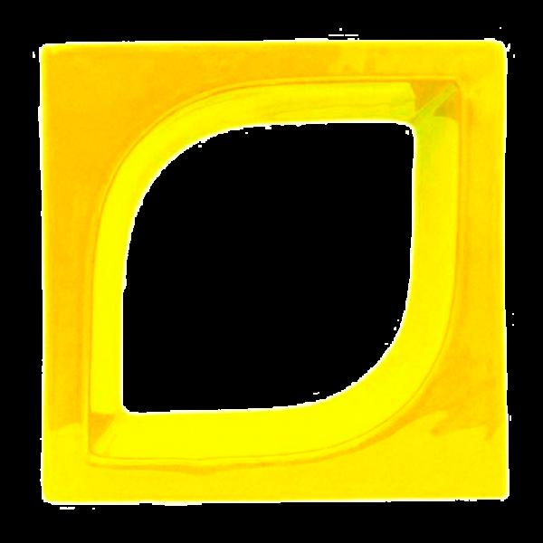Elemento vazado esmaltado Pétala Amarelo Canário