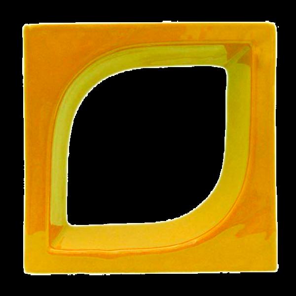 Elemento vazado esmaltado Pétala Amarelo Girassol