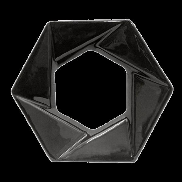 Elemento vazado esmaltado Foco Preto