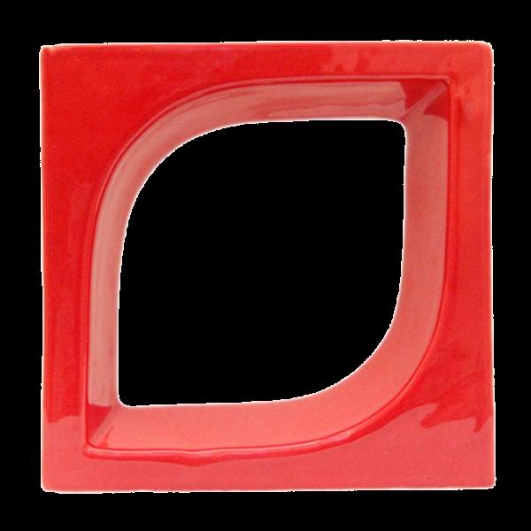 Elemento vazado esmaltado Pétala Vermelho