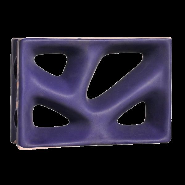 Elemento vazado esmaltado Rama Cobalto Fosco
