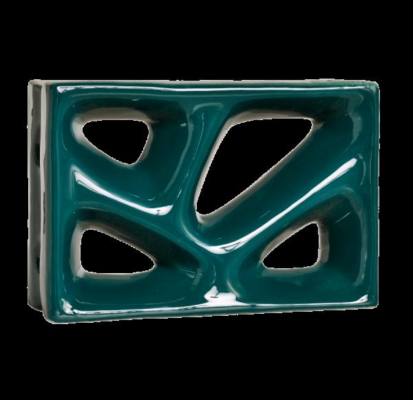 Elemento vazado esmaltado Rama Verde Petróleo