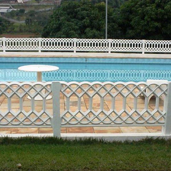 Grade de concreto Indiana A piscina