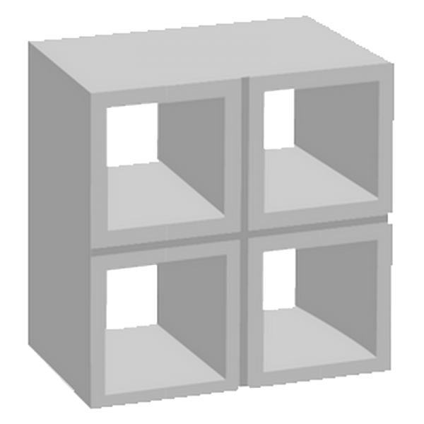 elemento vazado de concreto 4 furos
