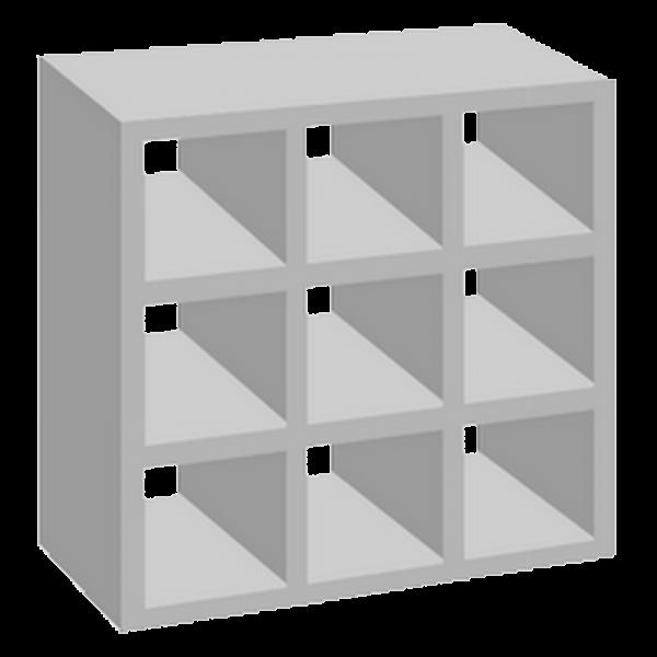 elemento vazado de concreto 9 furos