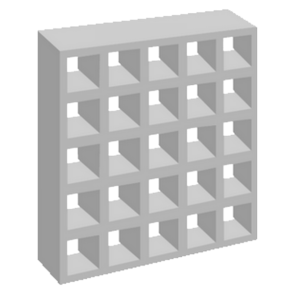 elemento vazado de concreto 25 furos