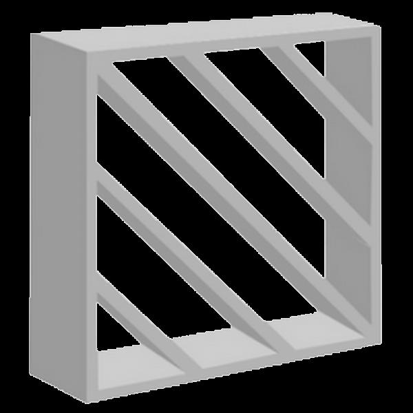 elemento vazado de concreto Diagonal