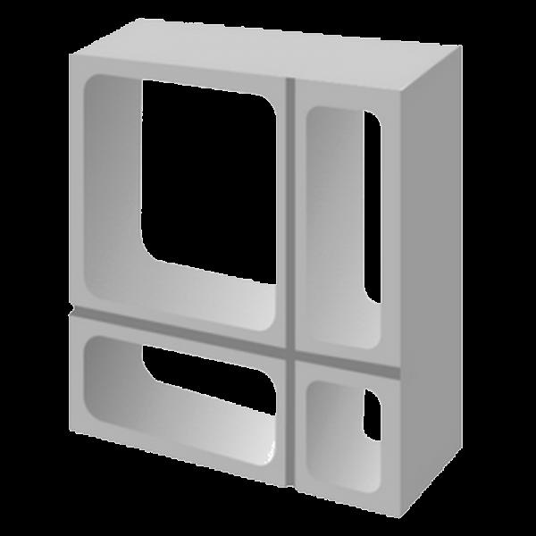 Elemento vazado de concreto Geometrico direto da Fábrica