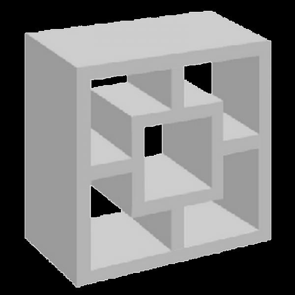 elemento vazado de concreto quadrado cruz