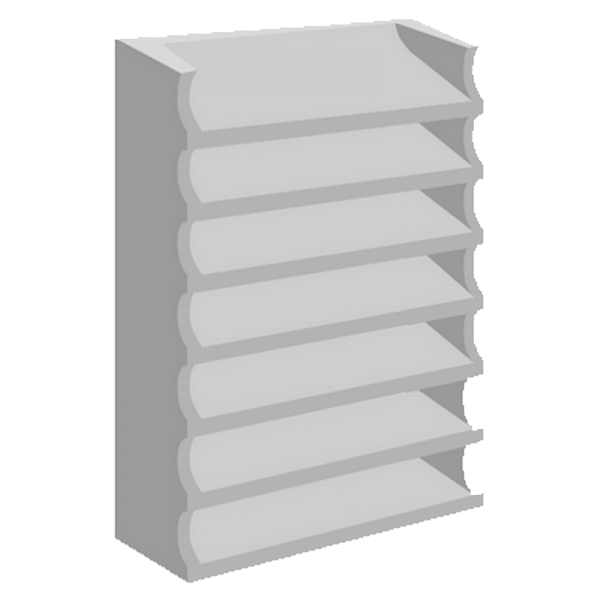 elemento vazado de concreto Veneziana Chanfrado