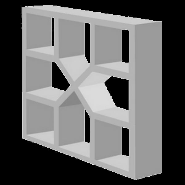 elemento vazado de concreto Xis