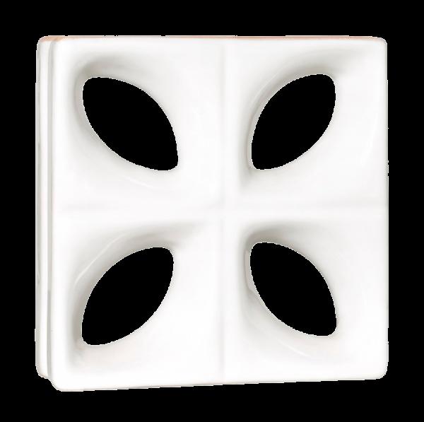Elemento vazado esmaltado Folha branco direto da fabrica