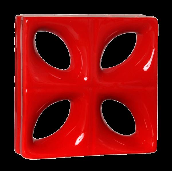 Elemento vazado esmaltado Folha vermelho direto da fábrica